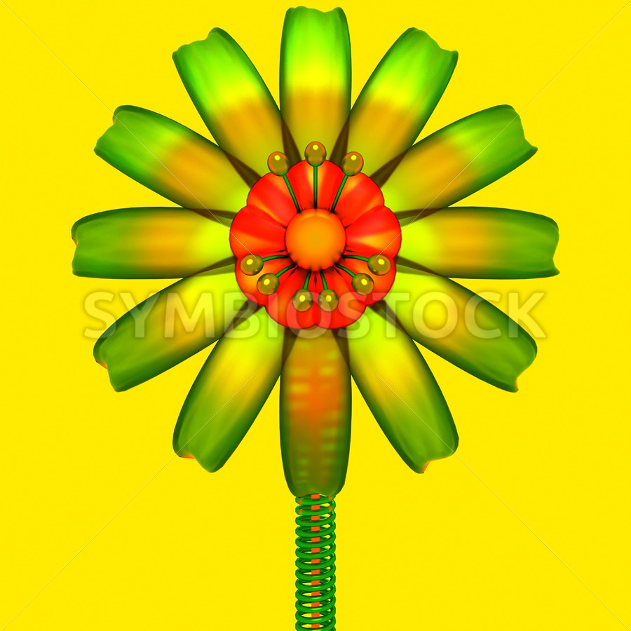 Abstract Glass Flower