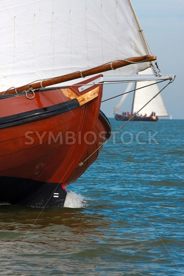 Brown skutsje bow - Jan Brons Stock Images