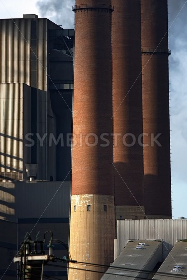 Chimneys of Coal Power station. - Jan Brons Stock Images