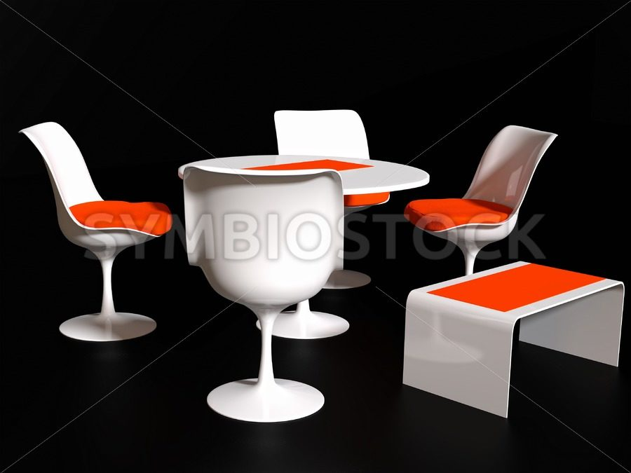 Four Tulip Chairs - Jan Brons Stock Images