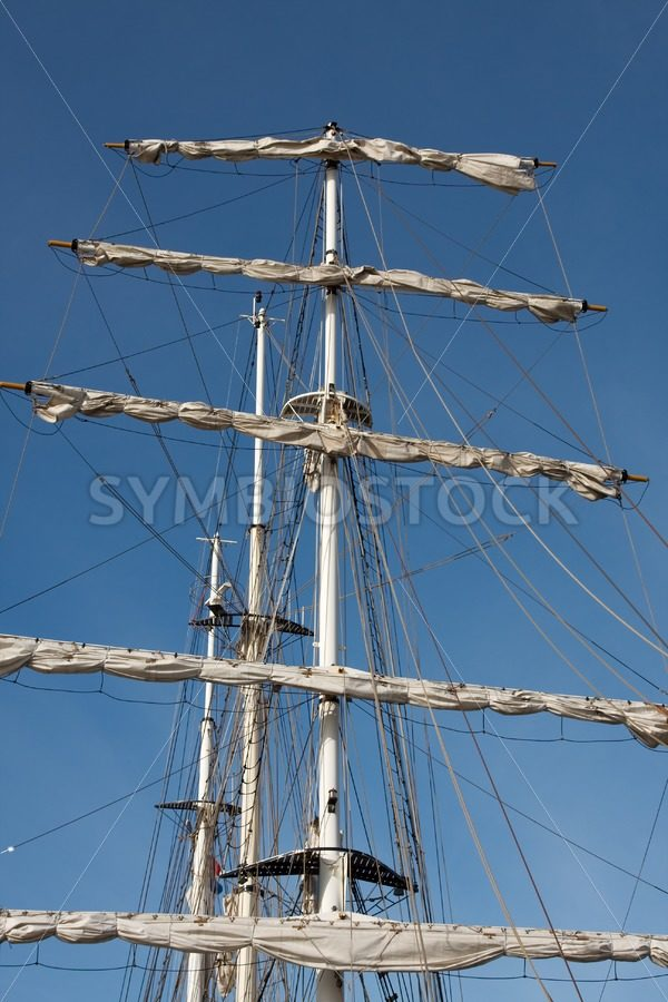 Masts rigging of Tall Ship - Jan Brons Stock Images