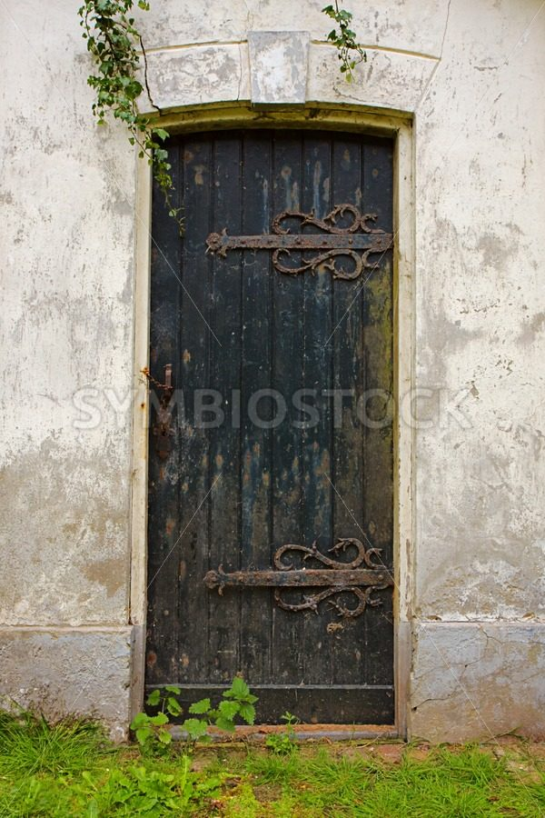 Old ruined door - Jan Brons Stock Images
