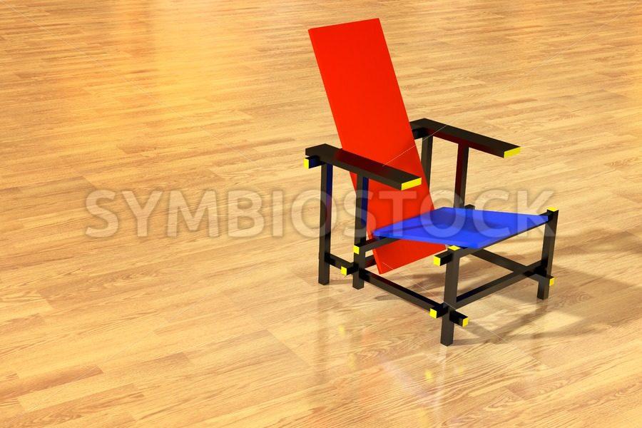Rietveld chair parquet floor - Jan Brons Stock Images