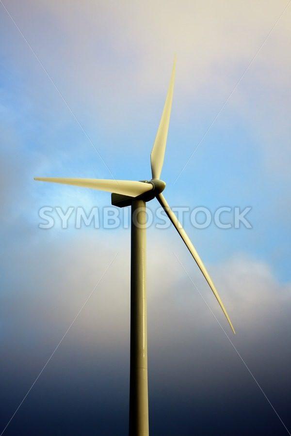 Windmill dark blue sky