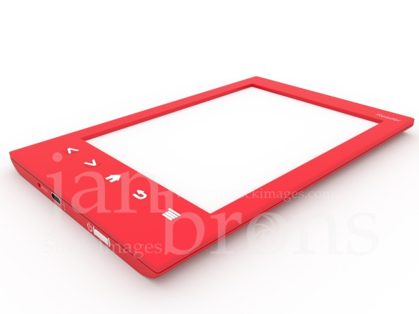 Red Ebook reader