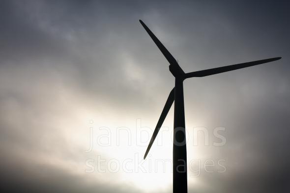 Windmill black sky