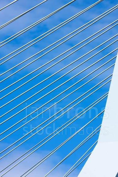 Steel wires suspension bridge